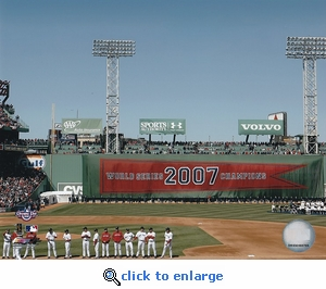 Boston Red Sox 2008 Opening Day Banner Raising Ceremony Fenway Park 8x10 Photo