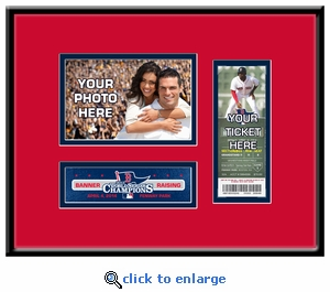 Boston Red Sox 2014 Opening Day / Banner Raising 4x6 Photo Ticket Frame