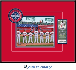 Boston Red Sox 2014 Opening Day / Banner Raising 8x10 Photo Ticket Frame