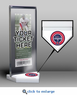Boston Red Sox 2014 Opening Day / Banner Raising Home Plate Ticket Display Stand