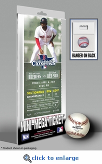Boston Red Sox 2014 Opening Day / Banner Raising Mini-Mega Ticket