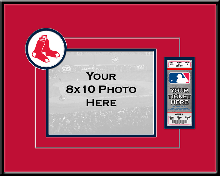 Boston Red Sox 8x10 Photo Ticket Frame