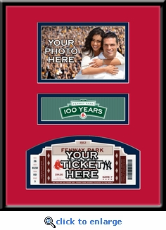 Boston Red Sox Fenway Park 100th Anniversary Game 4x6 Photo Ticket Frame