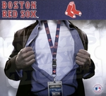 Boston Red Sox MLB Lanyard Key Chain and Ticket Holder - Navy