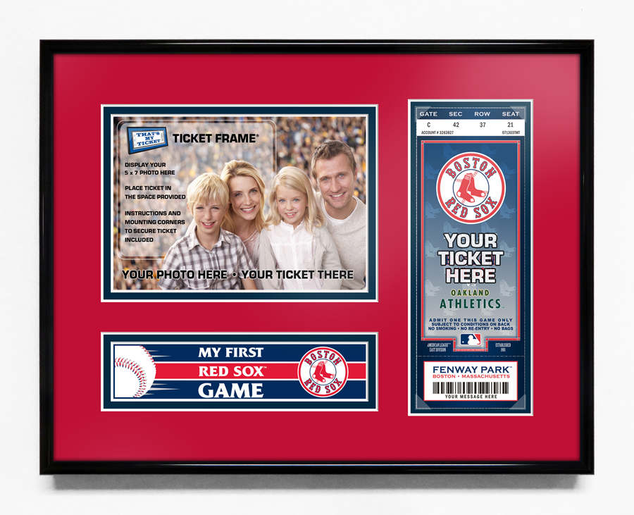 Boston Red Sox My First Game 5x7 Photo Ticket Frame