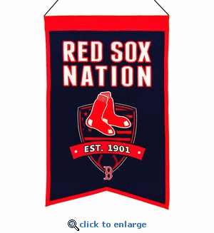 Boston Red Sox Nations Wool Banner (14 x 22)