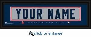 Boston Red Sox Personalized Stitched Jersey Nameplate Framed Print