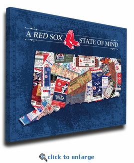 Boston Red Sox State of Mind Canvas Print - Connecticut