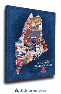Boston Red Sox State of Mind Canvas Print - Maine