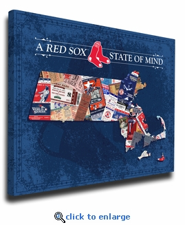 Boston Red Sox State of Mind Canvas Print - Massachusetts