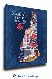 Boston Red Sox State of Mind Canvas Print - New Hampshire