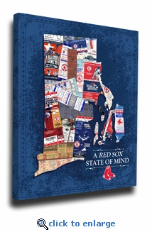 Boston Red Sox State of Mind Canvas Print - Rhode Island