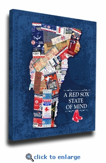 Boston Red Sox State of Mind Canvas Print - Vermont