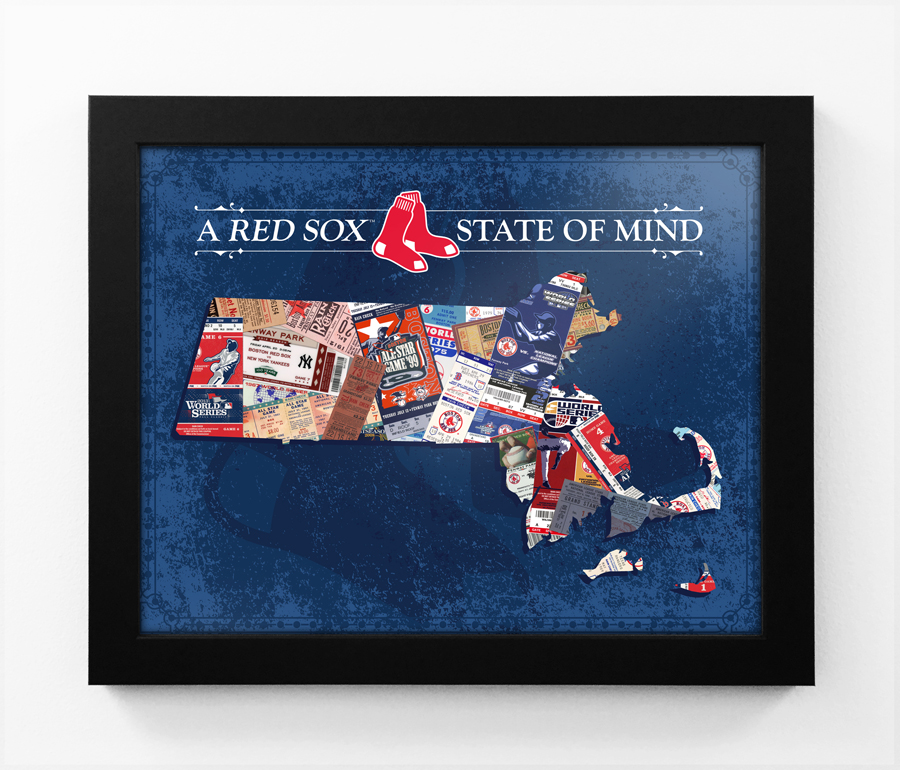 Boston Red Sox State Of Mind Framed Print Massachusetts