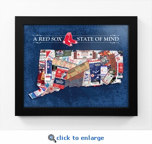 Boston Red Sox State of Mind Framed Print - Connecticut