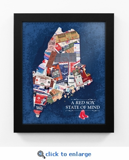 Boston Red Sox State of Mind Framed Print - Maine