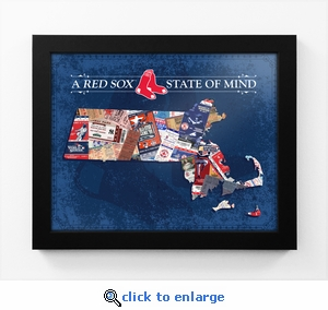 Boston Red Sox State of Mind Framed Print - Massachusetts