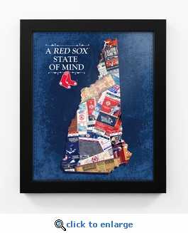 Boston Red Sox State of Mind Framed Print - New Hampshire