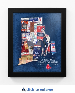 Boston Red Sox State of Mind Framed Print - Rhode Island