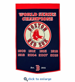 Boston Red Sox World Series Dynasty Wool Banner (24 x 36)