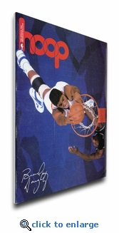 Brad Daugherty 1988 NBA Game Program Cover on Canvas - Cleveland Cavaliers