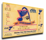 Brett Hull 500th Goal Canvas Mega Ticket - St Louis Blues
