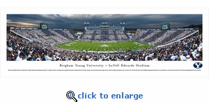 Brigham Young Cougars Football - 50 Yard Line - Panoramic Photo (13.5 x 40)