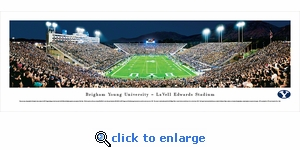 Brigham Young Cougars Football - End Zone - Panoramic Photo (13.5 x 40)