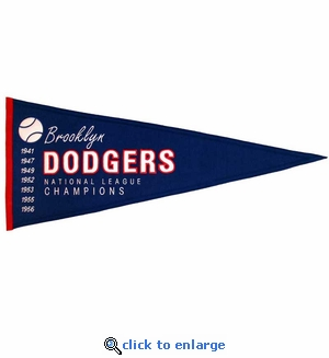 Brooklyn Dodgers Cooperstown Wool Pennant (13 x 32)