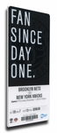 Brooklyn Nets Inaugural Game Canvas Mega Ticket