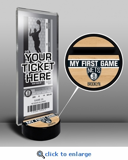 Brooklyn Nets My First Game Ticket Display Stand