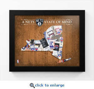 Brooklyn Nets State of Mind Framed Print - New York
