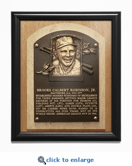 Brooks Robinson Baseball Hall of Fame Plaque Framed Print - Baltimore Orioles