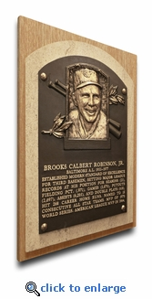 Brooks Robinson Baseball Hall of Fame Plaque on Canvas - Baltimore Orioles