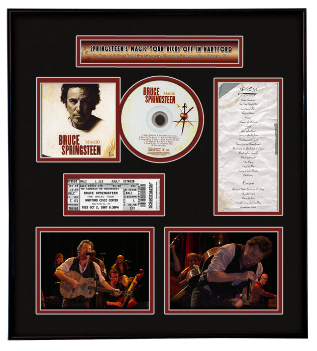 Bruce Springsteen Ticket Frame
