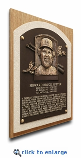 Bruce Sutter Baseball Hall of Fame Plaque on Canvas - St Louis Cardinals