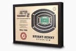 Bryant-Denny Stadium 3-D Wall Art - Alabama Crimson Tide Football