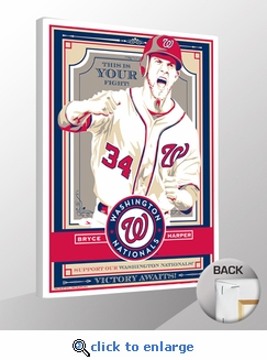 Bryce Harper Sports Propaganda Canvas Print - Nationals
