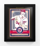 Bryce Harper Sports Propaganda Framed 13x16 Digital Print - Nationals