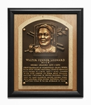 Buck Leonard Baseball Hall of Fame Plaque Framed Print - Homestead Grays, Negro Leagues
