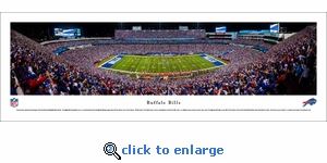 Buffalo Bills - 50 Yard Line Night Game - Panoramic Photo (13.5 x 40)