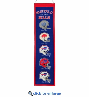 Buffalo Bills Heritage Wool Banner (8 x 32)