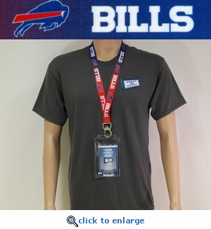 Buffalo Bills Lanyard Key Chain Bottle Opener and Ticket Holder