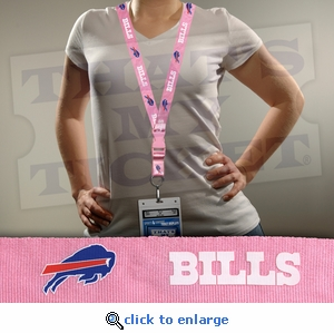 Buffalo Bills NFL Lanyard Key Chain and Ticket Holder - Pink