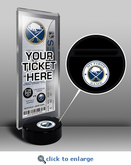 Buffalo Sabres My First Game Hockey Puck Ticket Stand