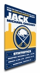 Buffalo Sabres Personalized Canvas Birth Announcement - Baby Gift