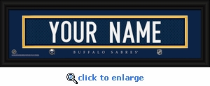 Buffalo Sabres Personalized Stitched Jersey Nameplate Framed Print