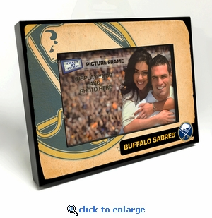 Buffalo Sabres Vintage Style Black Wood Edge 4x6 inch Picture Frame