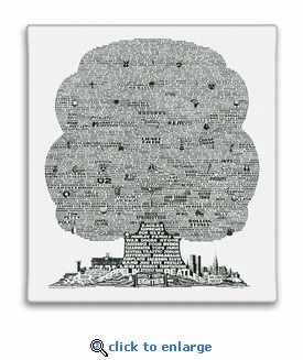 History Tree of 1980's Music Canvas Print