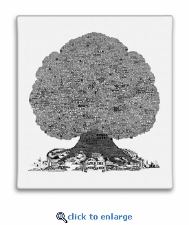History Tree of American Rock Music Canvas Print